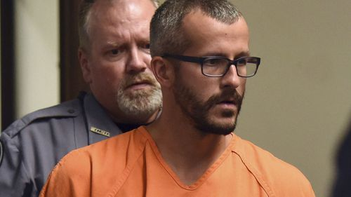Christopher Watts at his bond hearing at the Weld County Courthouse in Greeley, Colo. Watts, of Colorado. (AAP)