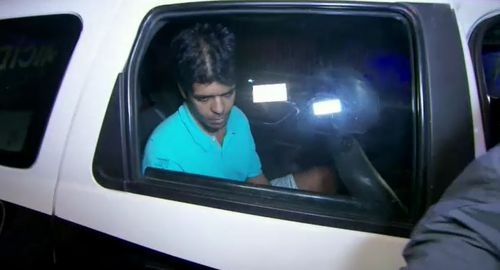 Mario Santoro was arrested in Rio after fleeing Sydney - allegedly after murdering his former partner of 10 years.