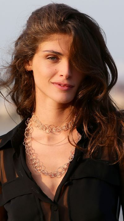 Elisa Sednaoui at a photocall.