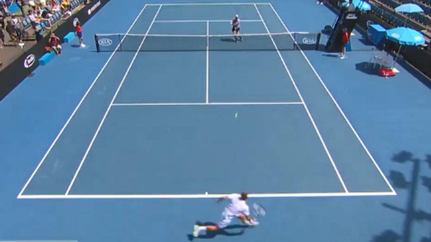 Dan Evans pulls off 'shot of the year' at Australian Open qualifying