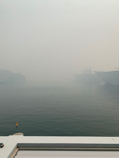 The smoke is so bad near Finger Wharf, all ferry services have ceased along Sydney Harbour.