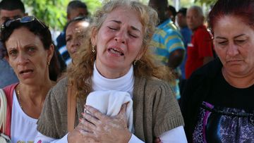 Ines Gonzalez, mother of one of the victims of the plane crash that killed 108 of the 111 occupants of the plane crashed yesterday in Havana, Cuba.