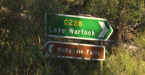 Witnesses said the man fell into the rock pool near Mackenzie Falls in the Grampians National Park.