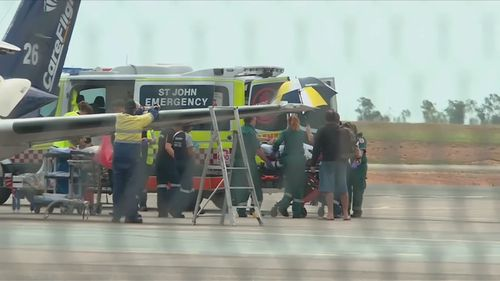 The boy was airlifted to Darwin for treatment.