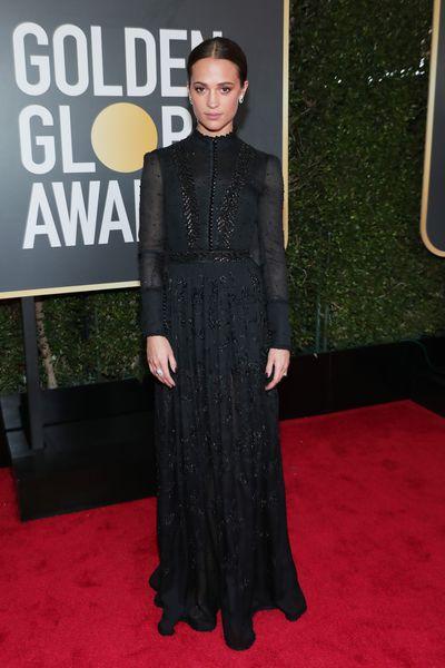 Actress Alicia Vikander in Louis Vuitton