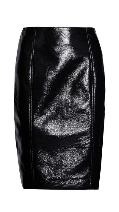 """<a href=""""http://www.theoutnet.com/en-AU/product/Jonathan-Saunders/Elina-vinyl-pencil-skirt/556341"""">Elina Vinyl Pencil Skirt, approx. $226, Jonathan Saunders</a>"""