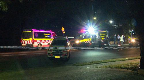 A man has died after a brawl at a house party in Ingleburn.