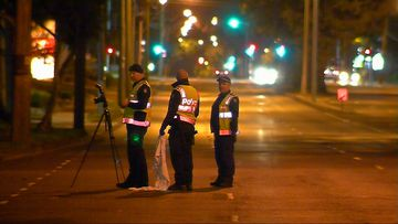 A 62-year-old man has died after he tripped in front of a car while running to catch a bus in Melbourne's south-east.