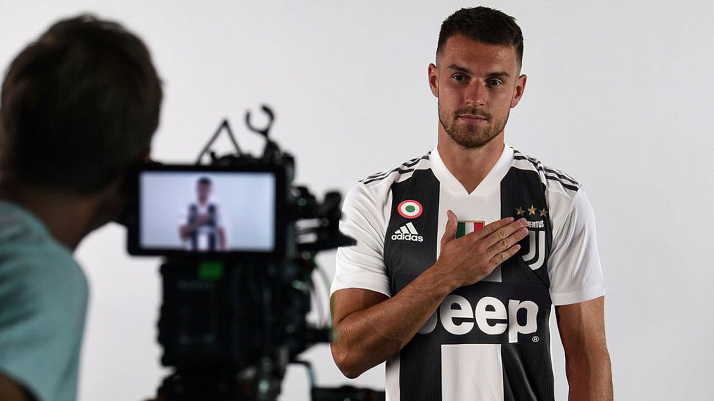 Ramsey in his Juventus kit