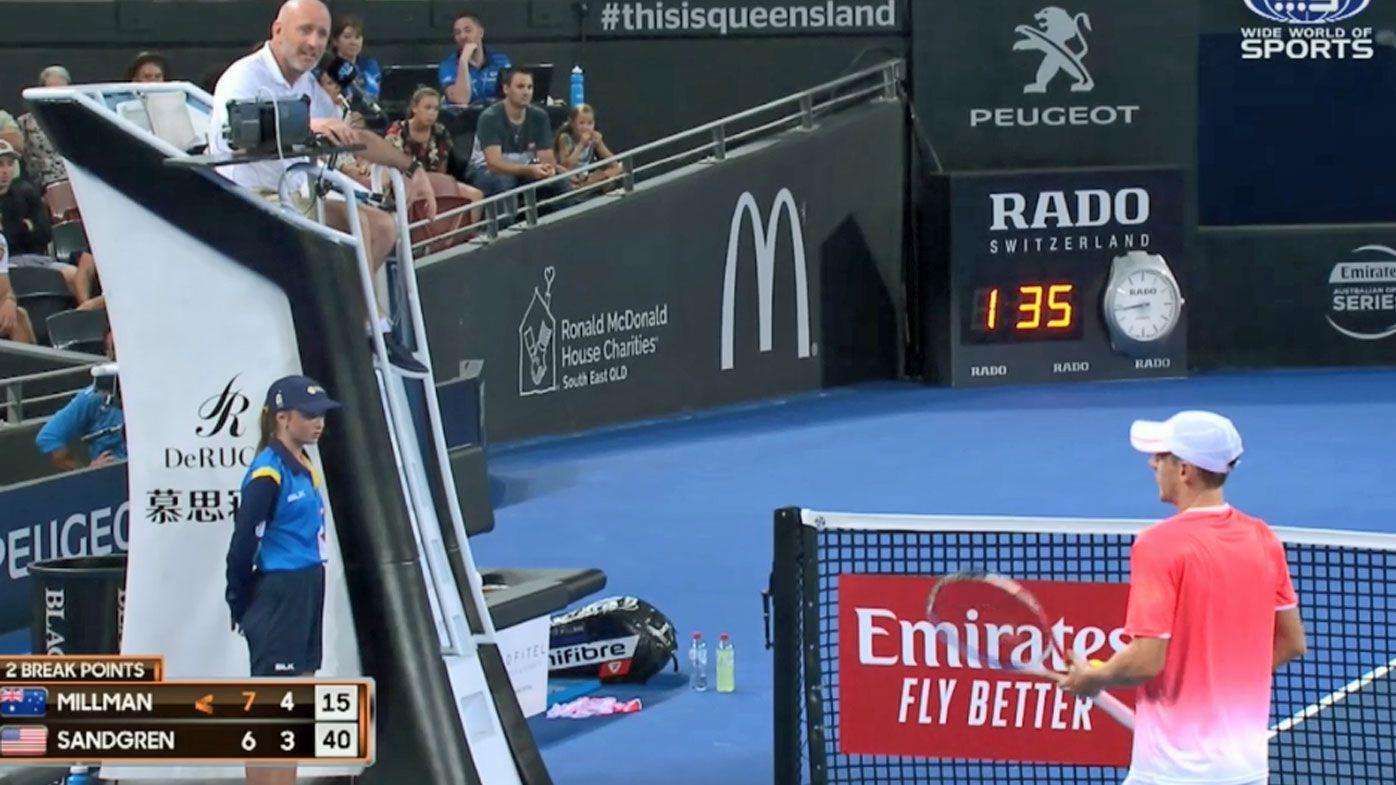 Brisbane International rolling coverage day one: Millman beats Sandgren and the umpire, wildcard Birrell claims biggest career victory
