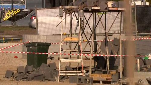 The  Brisbane building site has been closed as workplace safety experts launch an investigation into the accident.