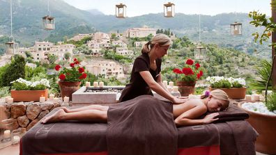 Massage with a view at the in-house La Residencia day spa.