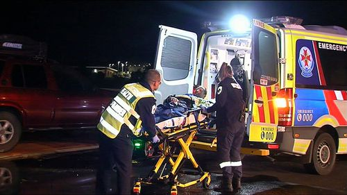 The detectives then called emergency services who treated a 49-year-old man for burns to his face. Picture: 9NEWS
