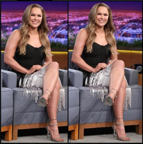 Ronda Rousey apologises for accidentally sharing image of herself edited to make her arms look smaller
