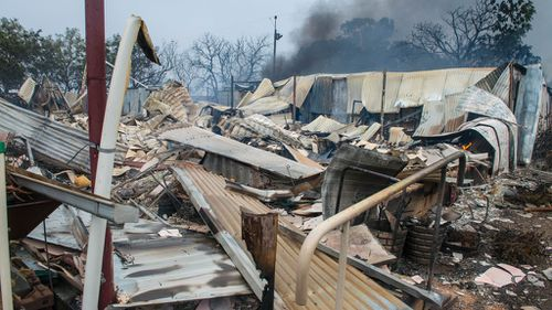 A destroyed house near Roseworthy in the mid-north of South Australia. (AAP)