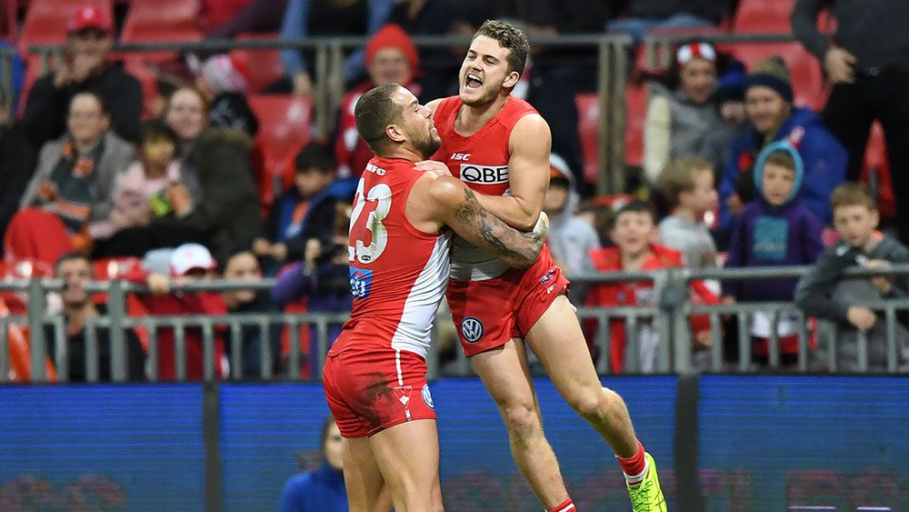 Tom Papley and Buddy Franklin. (AAP)