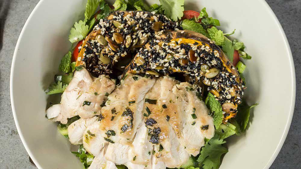 Pumpkin chicken salad