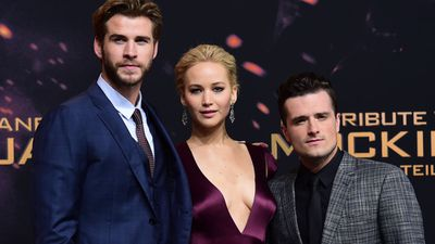 Australian actor Liam Hemsworth, Jennifer Lawrence, and actor Josh Hutcherson.