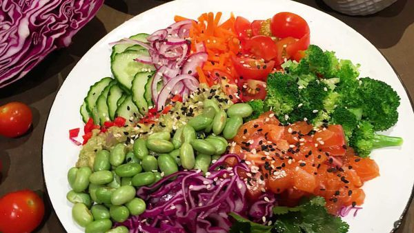 The Nude Nutritionist's salmon poke bowl