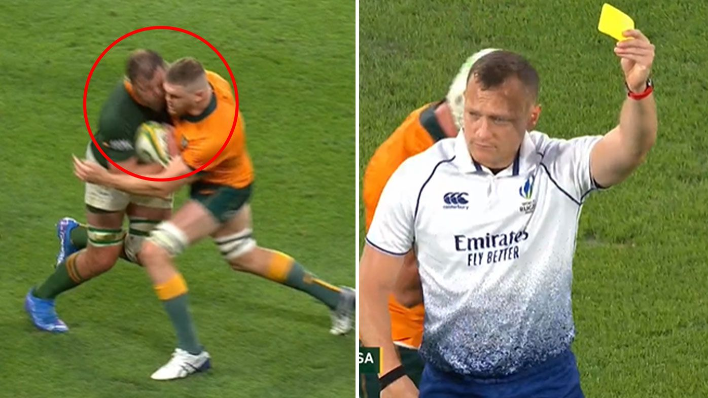 Legends divided as Wallabies flanker Lachlan Swinton cops controversial yellow card