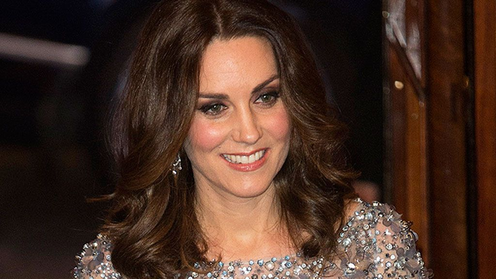 Kate Middleton Shines in Embellished, Icy Blue Gown & Silver Heels