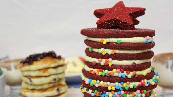 Red velvet pancake Christmas tree thumbnail