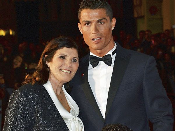 Cristiano Ronaldo (R) at the launch of his new documentary with his mum, Dolores. (Getty)