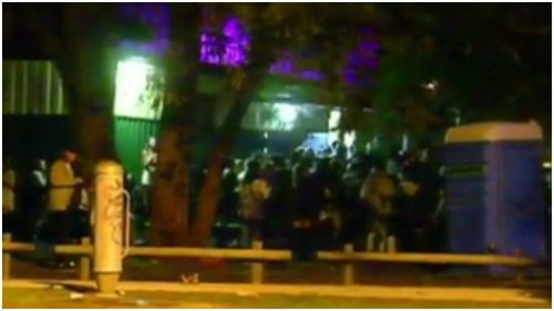 The brawl broke out during a birthday party in Bayswater, Melbourne. (9NEWS)