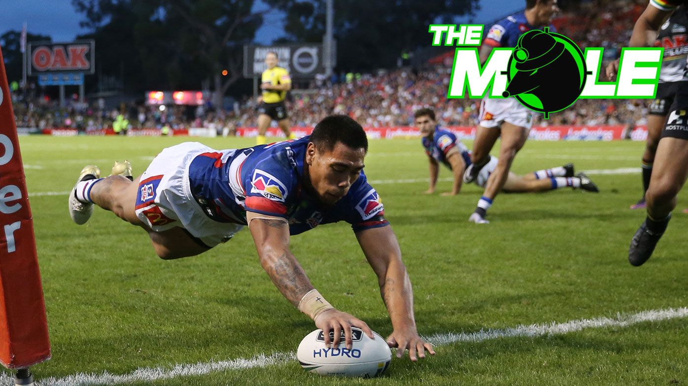 Newcastle Knights NRL winger Ken Sio