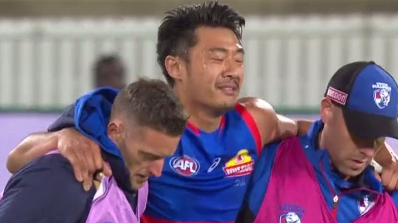 Luckless Bulldog Lin Jong's AFL comeback game ruined by another injury