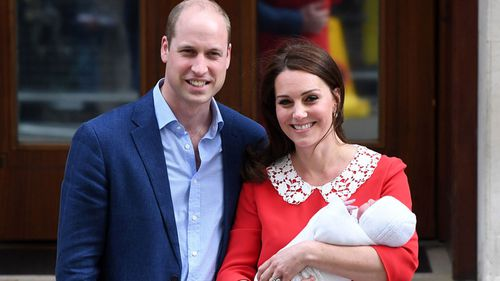 Prince Louis was born on Monday. (PA/AAP)