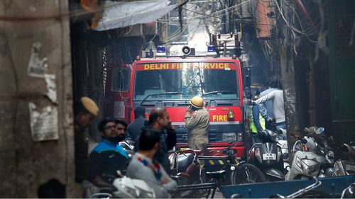 Fierce India factory fire kills at least 43 in New Delhi after electrical short circuit