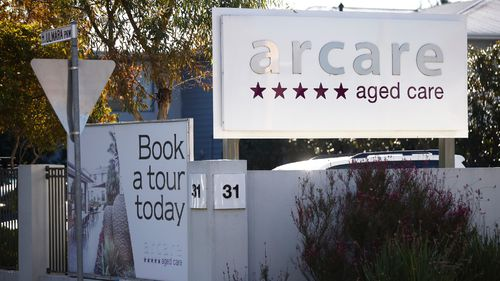 The staffer worked at the Arcare aged care facility in Maidstone while infectious.
