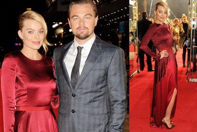 <i>The Wolf Of Wall Street</i> co-stars Margot Robbie and Leonardo DiCaprio