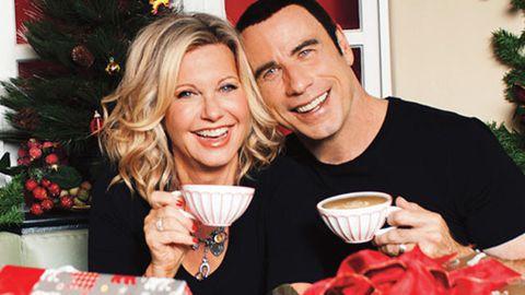 Best album cover ever: Olivia Newton-John and John Travolta reunite for Christmas release
