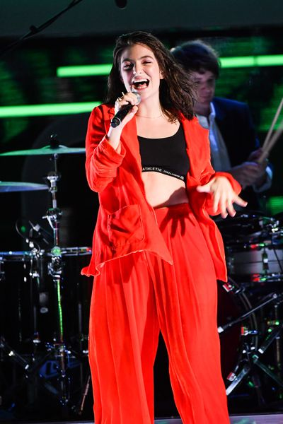 Lorde's signature baggy tracksuit look at the iHeart Music Awards in Canada, June.