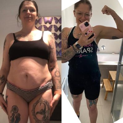 Megan before and after weight loss