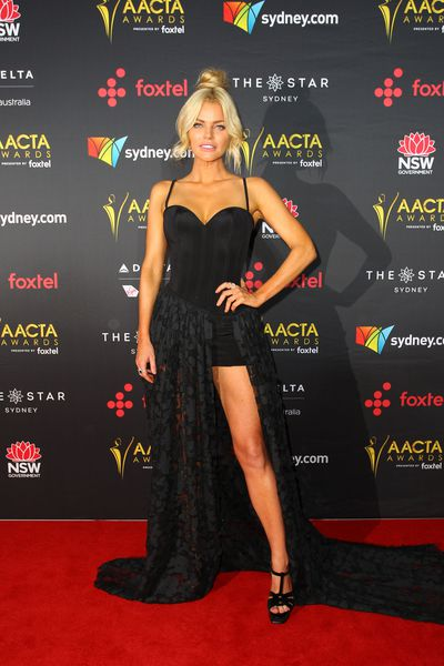 """<p>Sophie Monk tried the favourite move of Hollywood's A-list with mixed results on the red carpet for last night's AACTA Awards.</p> <p>The gown by South Yarra dressmakers Oglia Loro Couture was vaguely reminiscent of Angelina Jolie's fabled 2012 Oscar appearance in Versace, where the leg of the former Mrs Pitt gained its own Twitter handle.</p> <p>While Monk nailed the pose, captioning her Instagram post with """"Lucky I shaved the left leg,"""" the finish of the dress is not quite up there with Atelier Versace.&nbsp;</p> <p>Here's some inspiration from Jolie, Nicole Kidman, and Jennifers Lopez and Aniston on how to nail the paparazzi pose in style.</p>"""