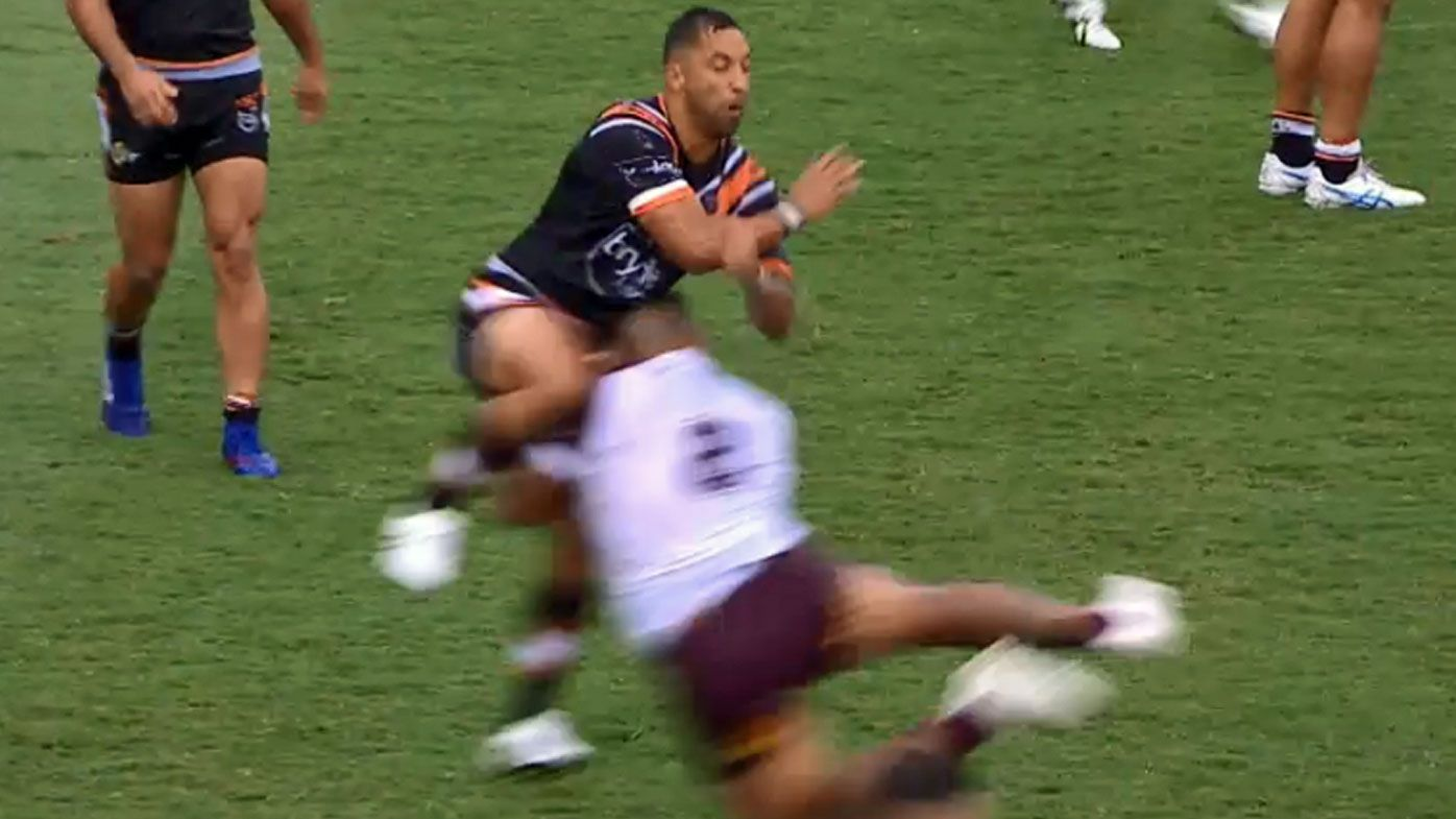 Manly's Addin Fonua-Blake to be banned for 'reckless' tackle on Tigers star Benji Marshall