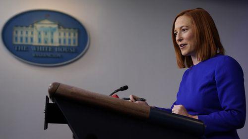 White House press secretary Jen Psaki speaks during a press briefing at the White House, Wednesday, Jan. 20, 2021, in Washington.
