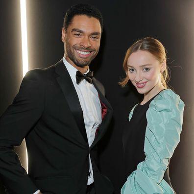 Phoebe Page and Bridgerton co-star Regé-Jean Page.