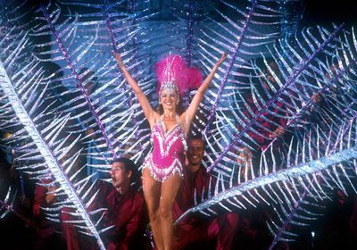 Performing during the closing ceremony of the 2000 Olympic Games in Sydney.
