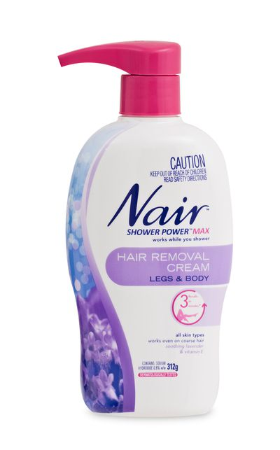 "<p>To get rid of unwanted hairs:</p><a href=""http://www.nair.com.au/products/nair-shower-power-max-hair-remover-cream/http://www.nair.com.au/products/nair-shower-power-max-hair-remover-cream/"" target=""_blank"">Shower Power Max, $15.19, Nair</a>"