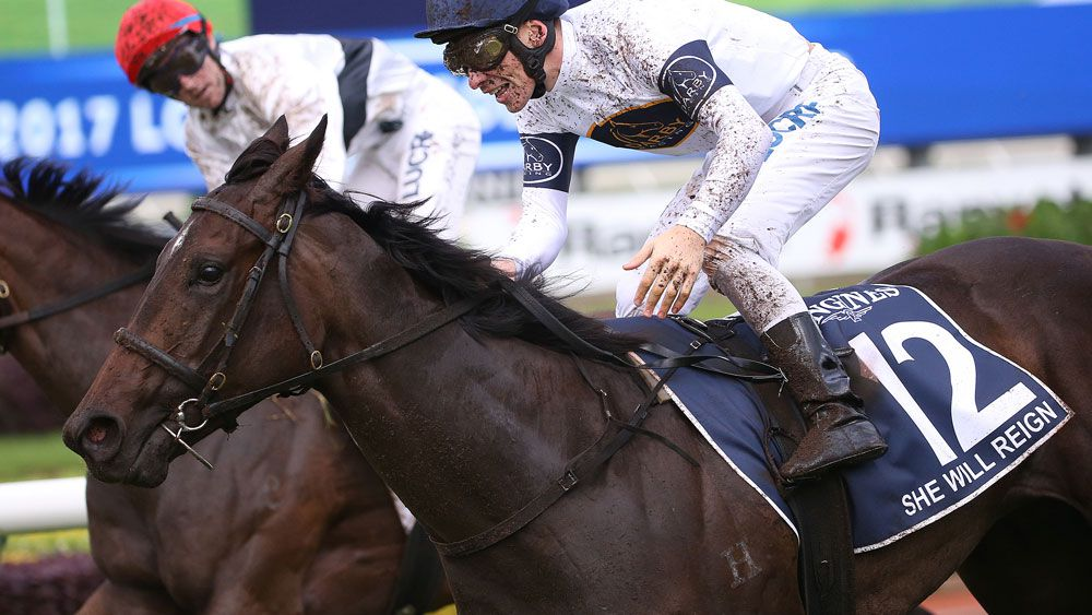 Connections of She Will Reign have paid up for the $10m Everest race at Randwick. (AAP)