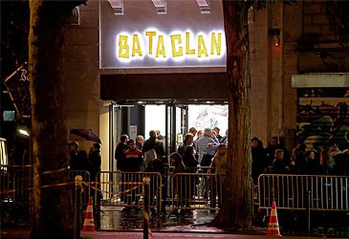 People outside Bataclan theatre (Getty)
