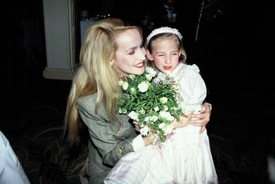 <p>Then: Jerry Hall and daughter Elizabeth Scarlett Jagger in London in 1990.</p>