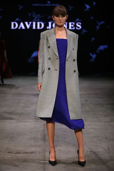 A model wearing Camilla and Marc at the David Jones Autumn Winter 2018 Collections show