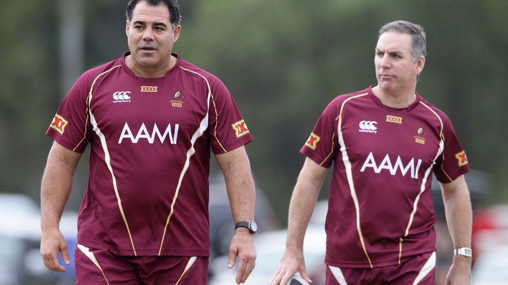 Mal Meninga (L) and Michael Hagan. (AAP-file)