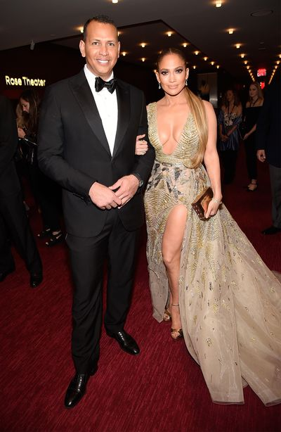 Jennifer Lopez in&nbsp;Zuhair Murad and Alex Rodriguez at the<em> Time 100 </em>Gala in New York City, April 2018