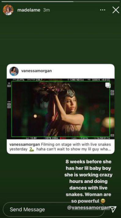 Riverdale, Vanessa Morgan, dancing with snake, filming, Season 5